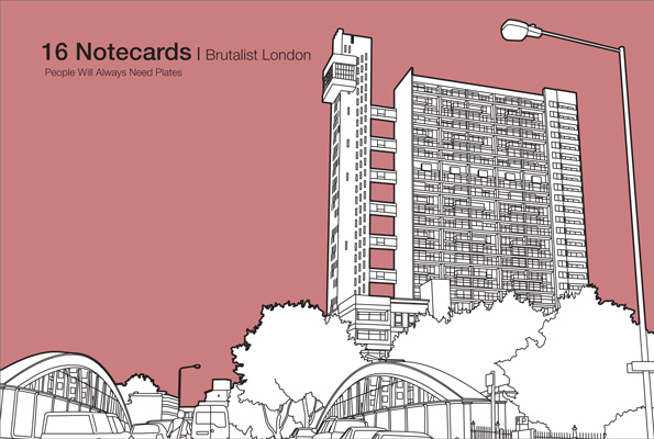 Brutalist London – 16 Notecards