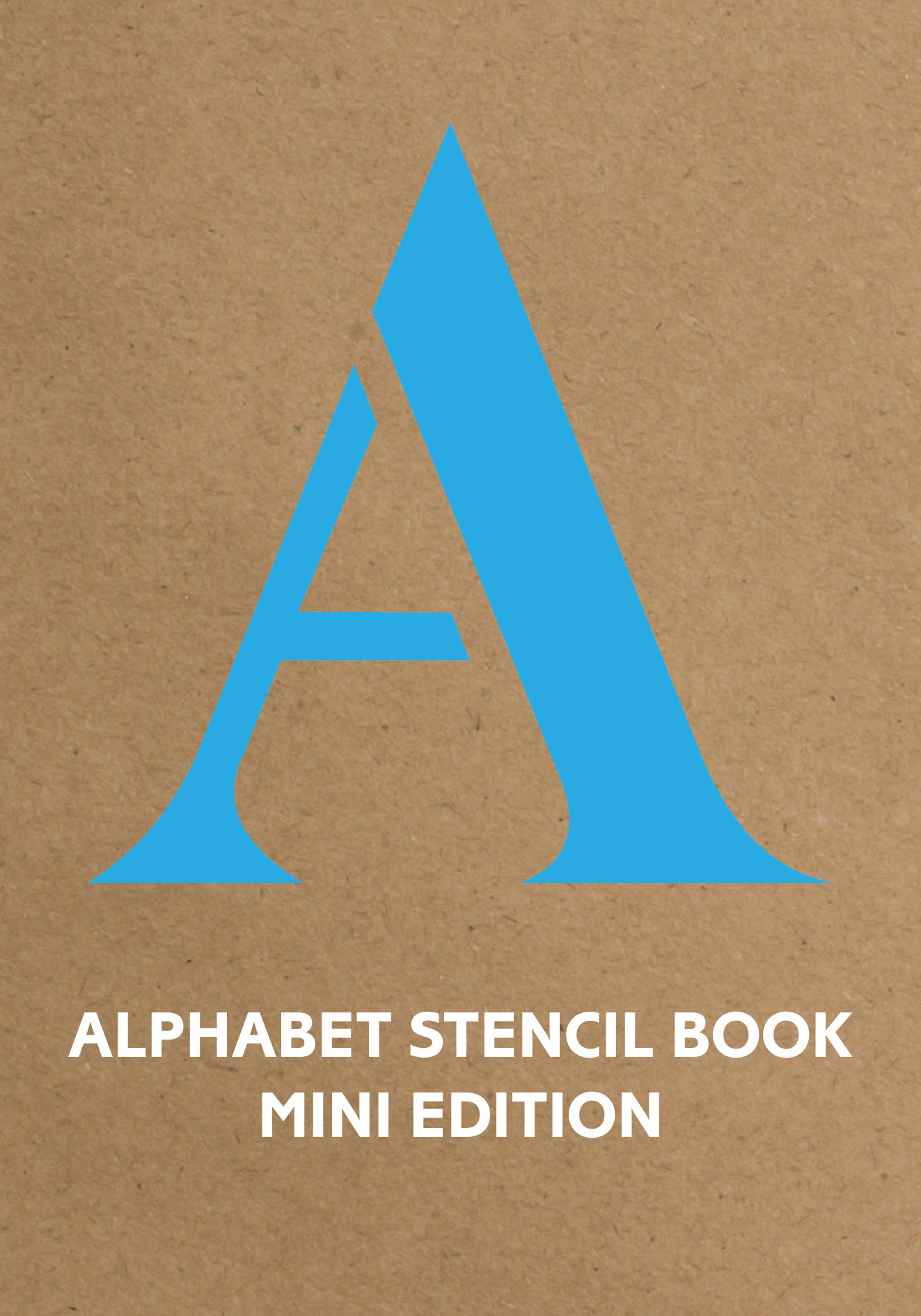 Alphabet Stencil Book mini edition (blue)