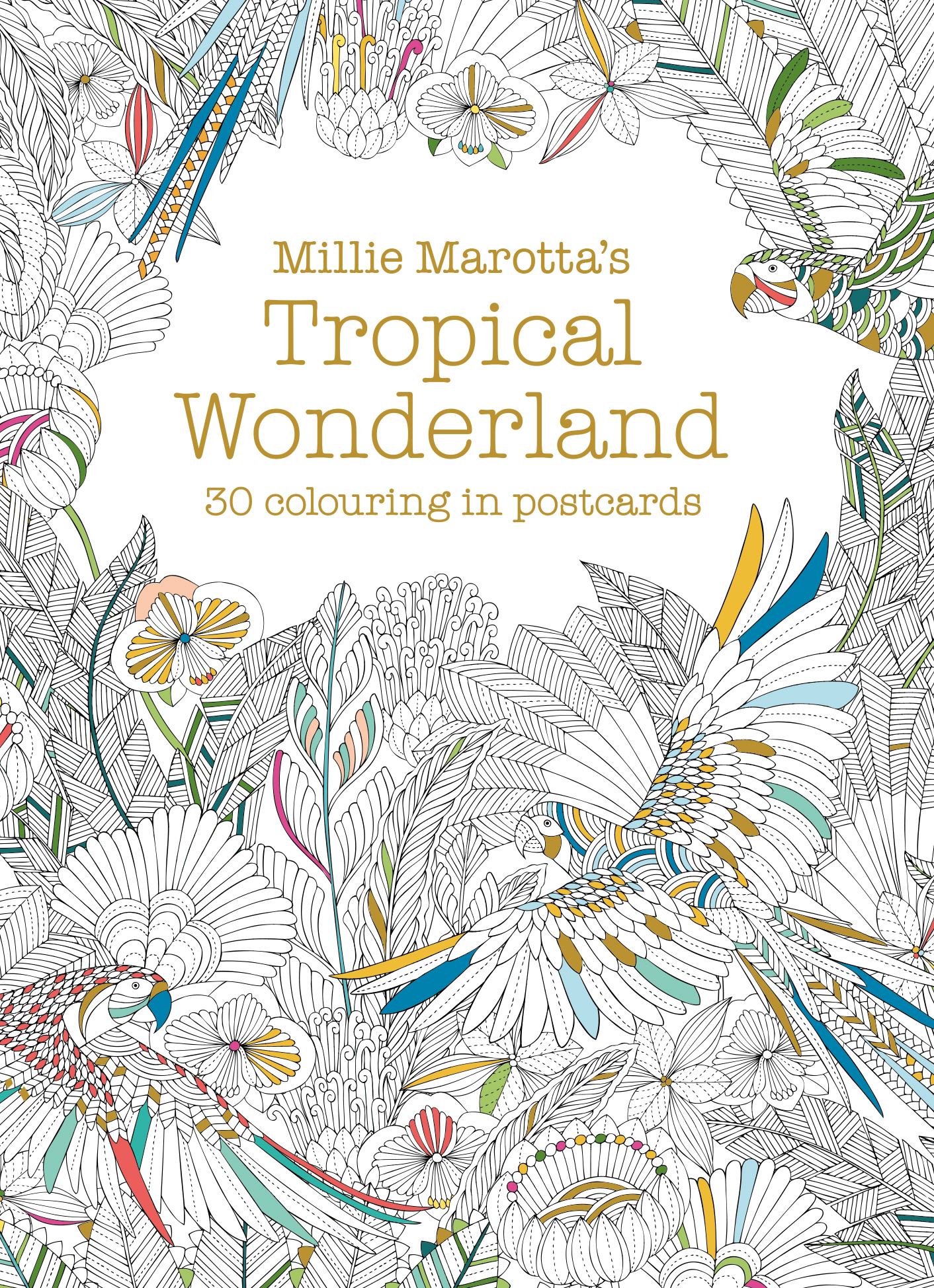 Millie Marotta's Tropical Wonderland Postcard Book