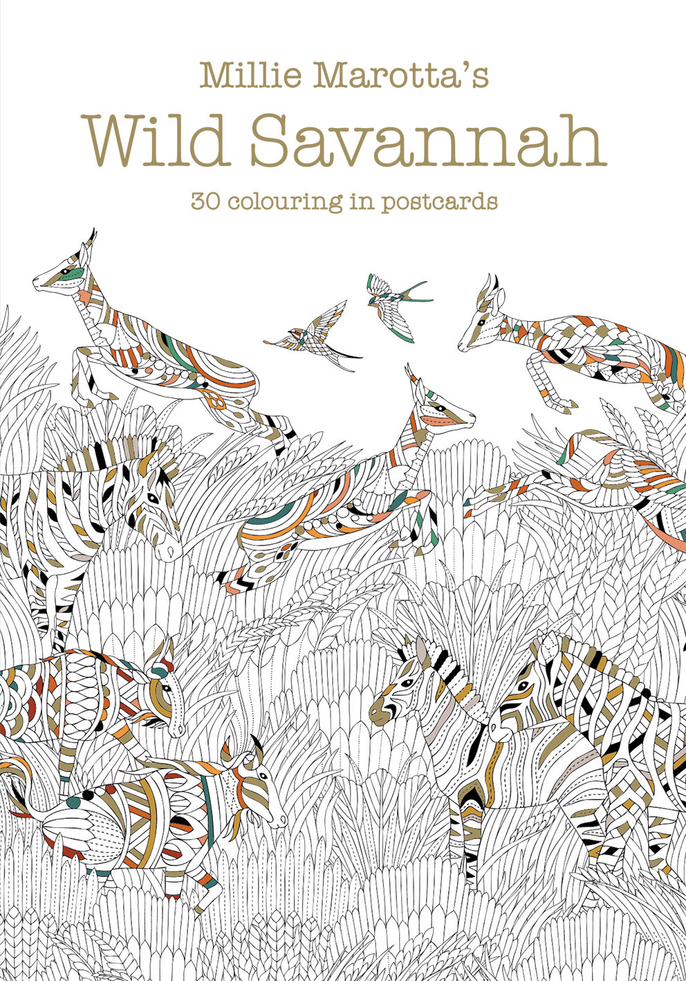 Millie Marotta's Wild Savannah Postcard Book