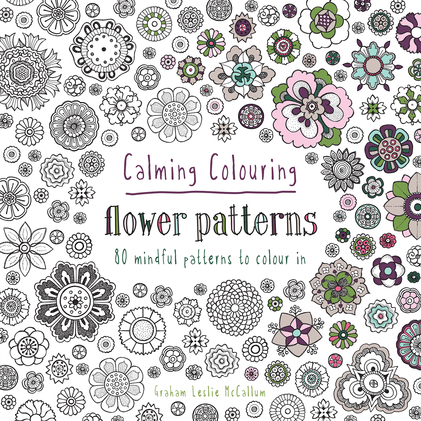 Calming Colouring Flower Patterns