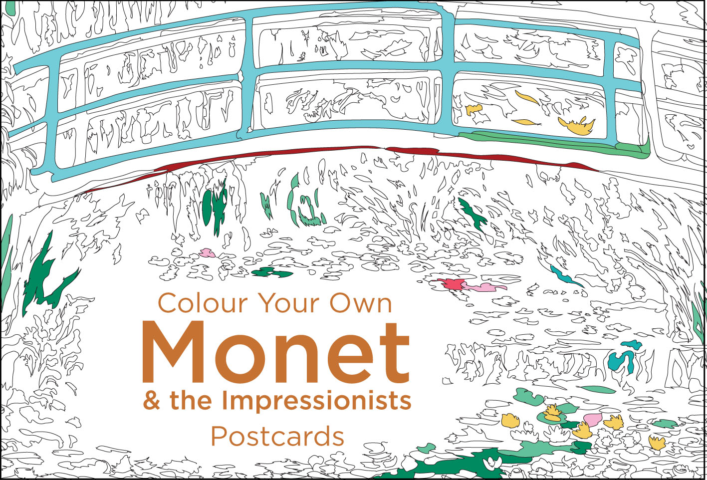 Colour Your Own Monet & the Impressionists Postcard Book